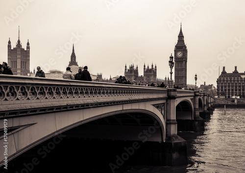 Fotobehang Londen Cloudy day in London