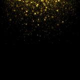Gold glitter background with sparkle shine confetti. - 170504765