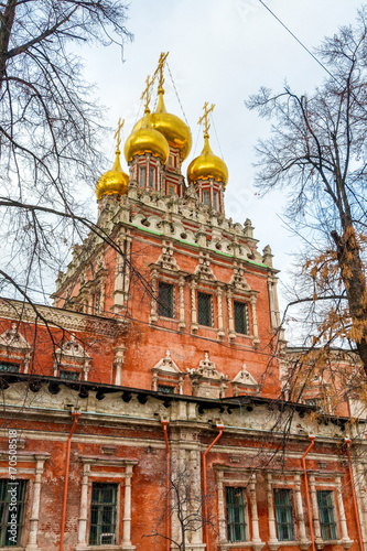 Fotobehang Moskou Old church in Moscow