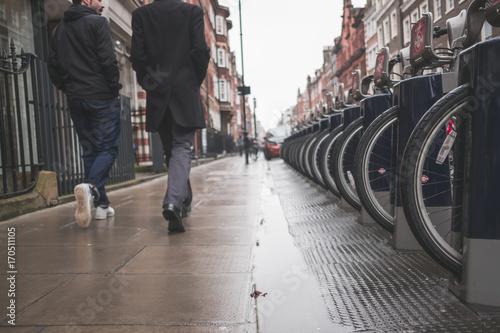 Foto op Plexiglas London Strolling Rainy London