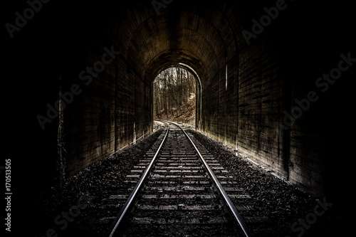 Railroad Tunnel Poster