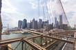 Skyline of Manhattan from Brooklyn Bridge, NYC