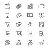 Money thin icons - 170519304