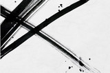 筆で描いた線と点 和紙背景  - 170524719