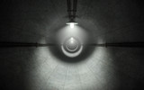 Old dark concrete tunnel with lamps. 3d rendering