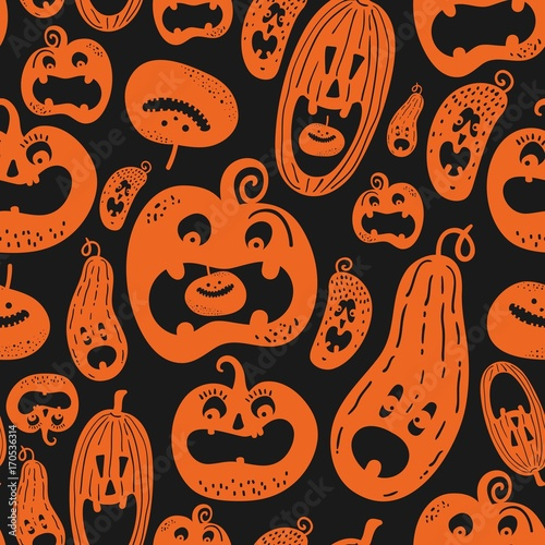Cotton fabric Halloween holiday, seamless background