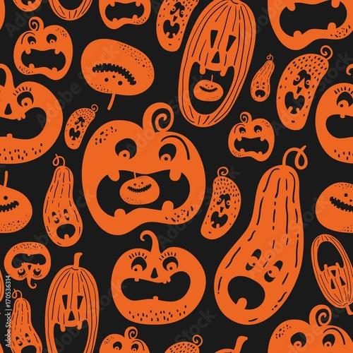 Materiał do szycia Halloween holiday, seamless background