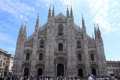 Fotobehang Milan Il duomo abitato