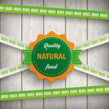 Bio Sticker Lines Natural Food Wooden Planks - 170554174