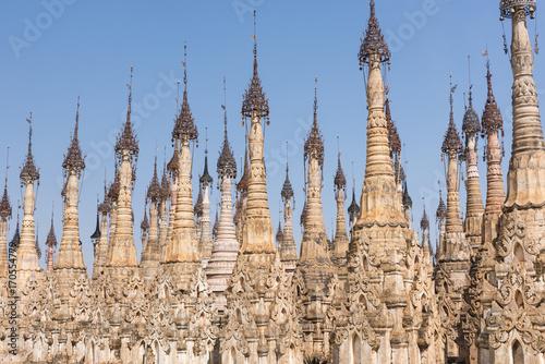 Aluminium Fyle Pagodas at Kakku