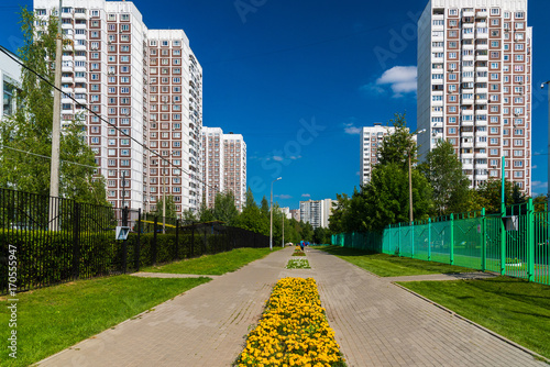 Fotobehang Moskou City landscape in Zelenograd district of Moscow, Russia