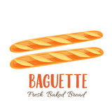 Baguette bread icon