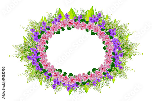 Aluminium Lelietjes van dalen Flower frame and colorful spring flowers.