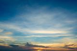 Fiery orange sunset sky. Beautiful sky. - 170558376