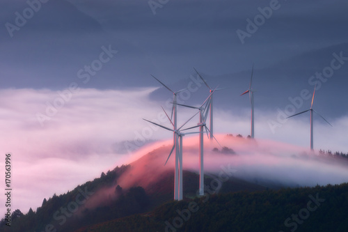 Aluminium Purper renewable energy with wind turbines