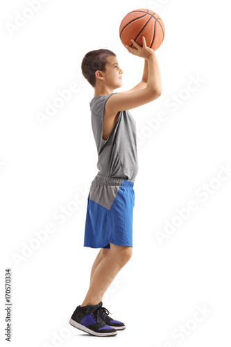 Aluminium Basketbal Kid throwing a basketball