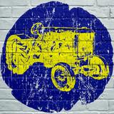 Street art. Tracteur agricole grunge - 170571369