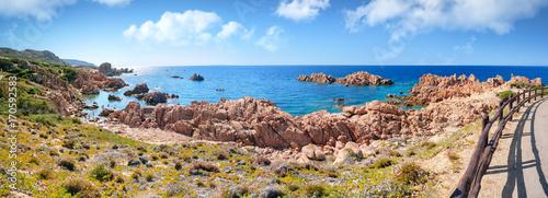 Papiers peints Photos panoramiques Felsenküste Costa Paradiso