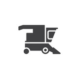Combine harvester icon vector, filled flat sign, solid pictogram isolated on white. Symbol, logo illustration - 170594950