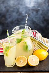 Jar of lemonade