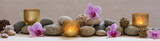 panoramic still life for harmony in spa, massage or yoga