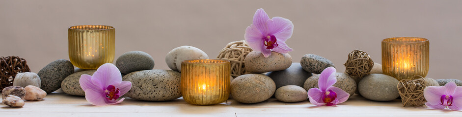 panoramic still life for harmony in spa, massage or yoga © STUDIO GRAND OUEST