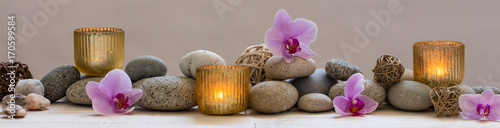 Foto op Canvas Zen panoramic still life for harmony in spa, massage or yoga