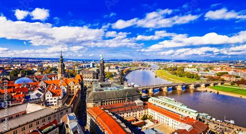 Fotobehang Freesurf Travel in Germany - panoramic view of beautiful Dresden
