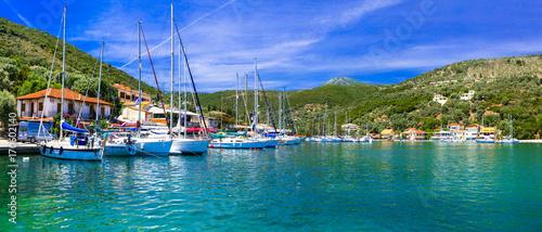 Fotobehang Freesurf Pictorial fishing village Sivota in Lefkada, Ionian island