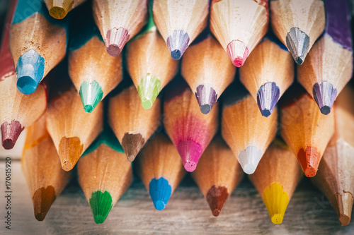 Group of color pencils Poster