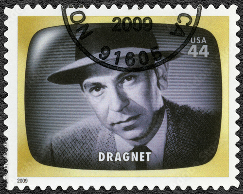 USA - 2009: shows Dragnet, detectiv, Early TV Memory Poster