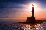 Lighthouse on sunset. Chania, Crete, Greece. - 170633713