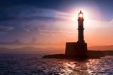 Lighthouse on sunset. Chania, Crete, Greece. - 170633713