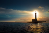 Lighthouse on sunset. Chania, Crete, Greece. - 170634982