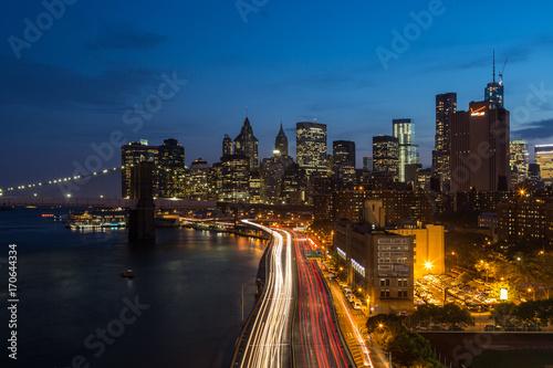 Foto op Canvas Brooklyn Bridge FDR Drive from the Manhattan Bridge