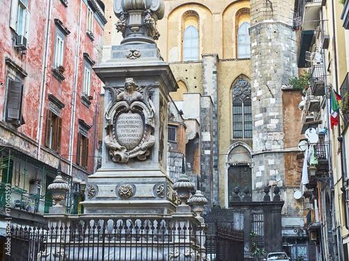 Papiers peints Naples San Gennaro obelisk in Piazza Cardinale Sisto Riario Sforza. Naples, Italy.