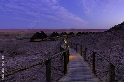 Fotobehang Aubergine early morning at Namib desert