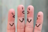 Fingers art of people during quarrel.  - 170674592