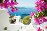 White architecture on Santorini island, Greece. - 170680793