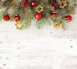 Christmas decoration on old grunge wooden board - 170684182