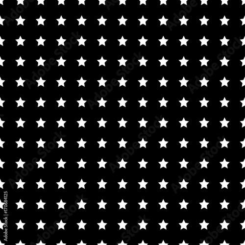 White Star Seamless on Black Background - 170684125