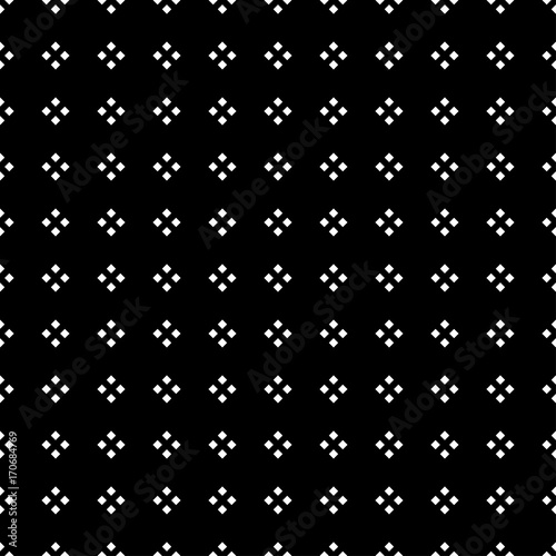 White Square Diamond on Black Background. - 170684769