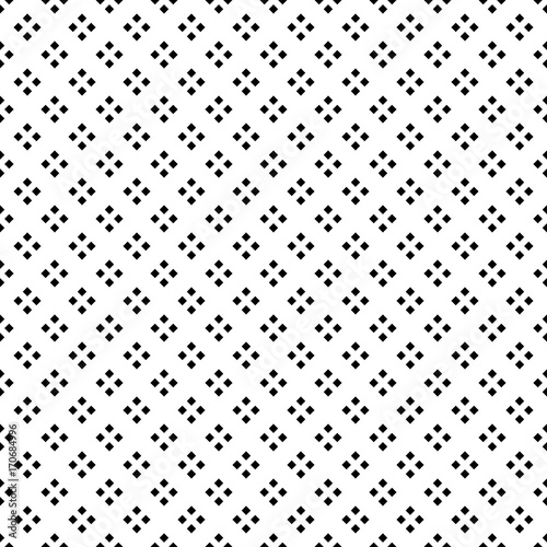 Black Square Diamond Seamless on White Background - 170684996