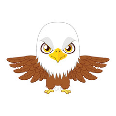 Cute stylized cartoon eagle illustration ( for fun educational purposes, illustrations etc. )