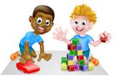 Cartoon Boys Playing