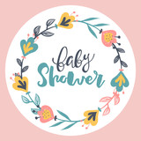 Vector baby lettering