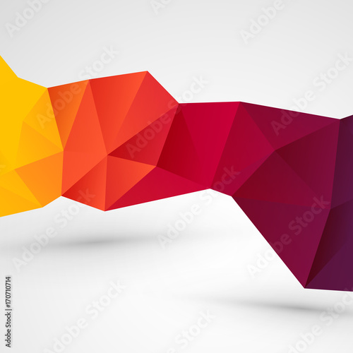 modern abstract geometric business red yellow background