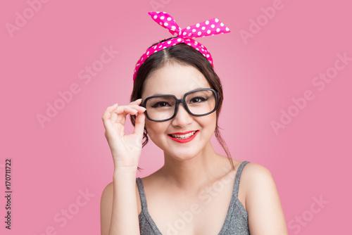 Beautiful woman pinup style portrait. Asian woman. - 170711722