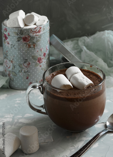 Papiers peints Chocolat Cup of hot chocolate with marshmallows