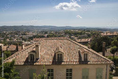 Provencal house overlooking the valley in Grasse, Cote d'Azur, France
